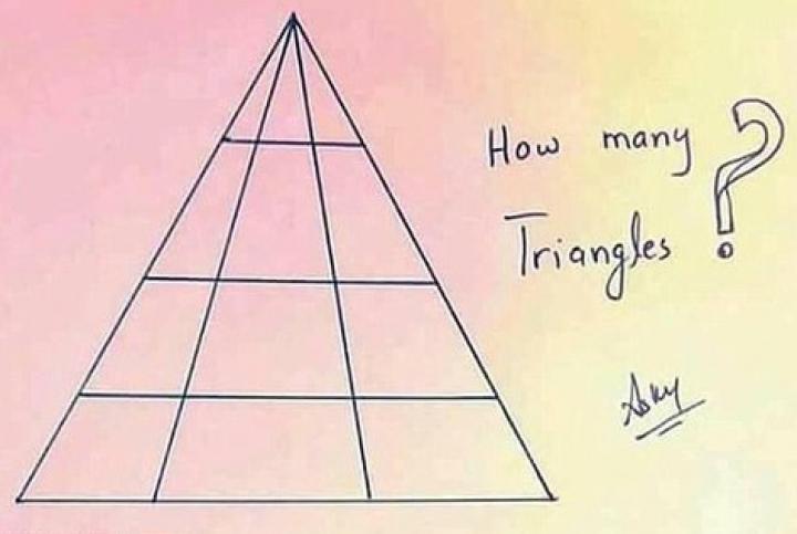 Câte triunghiuri se află în imagine? Un test simplu a uimit utilizatorii unei reţele sociale
