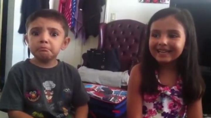 REACŢIILE savuroase ale unor copii atunci când află că vor avea un frate (VIDEO)