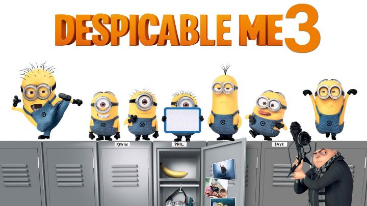 """""""Despicable Me 3"""" în topul american după primul weekend de la lansare"""