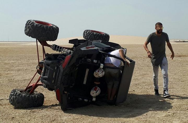 Gerard Piqué a fost implicat într-un accident de maşină (VIDEO/FOTO)