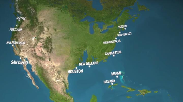 NO COMMENT! Cum ar arăta lumea dacă întreaga gheață de pe suprafața pământului s-ar topi (VIDEO ÎNFRICOŞĂTOR)
