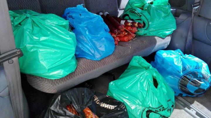 200 de kilograme de mezeluri, transportate ilegal! Un cetățean moldovean a fost prins în zona de frontieră