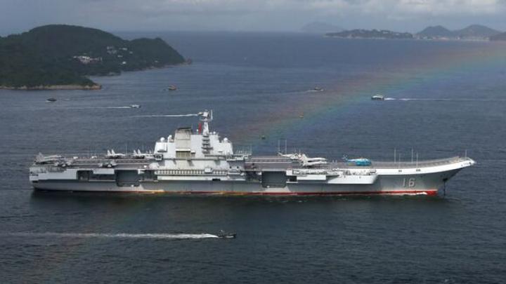 Portavionul Liaoning a sosit pentru prima dată la Hong Kong