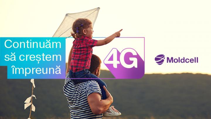 (P) Acoperirea 4G Moldcell se extinde continuu și a atins cifra de 74.7% (VIDEO)