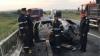 Maşina unui moldovean a explodat în urma unui accident produs în România. Şoferul, transportat la spital