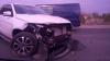 Accident la ieşirea din Capitală. O şoferiţă şi-a făcut ZOB maşina (FOTO)