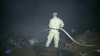 Un incendiu puternic a izbucnit seara trecută la groapa de gunoi din comuna Trușeni