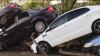 O ploaie torenţială a făcut PRĂPĂD în Crimeea. Zeci de maşini au fost distruse de viitură (VIDEO)