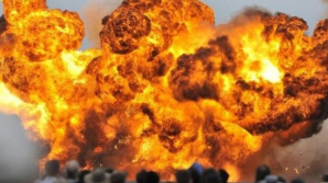 INCENDIU DE PROPORŢII. Un depozit de muniții a sărit în aer la Donețk