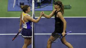 Simona Halep a fost eliminată din primul tur la US Open de rusoaica Maria Şarapova