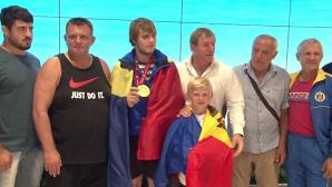 Campionul mondial la judo, Eugen Matveiciuc, a fost întâmpinat la aeroport ca un adevărat erou