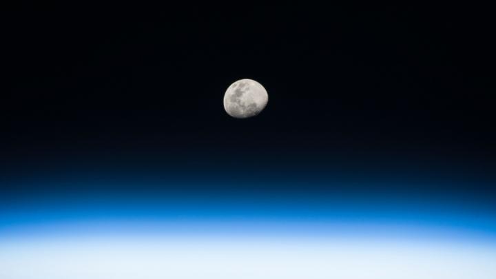 IMAGINE SPECTACULOASĂ din cosmos. Un răsărit de lună văzut de pe Stația Spațială Internațională