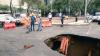 O groapă de şapte metri adâncime s-a format în orașul Ciudad de Mexico, după ploile abundente