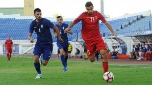 Naţionala de tineret U-21 a suferit o înfrângere în meciul cu Grecia