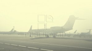 Trafic aerian perturbat din cauza ceţii pe Aeroportul Chişinău. Mai multe zboruri sunt în întârziere