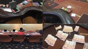 Jocuri de noroc organizate clandestin într-un cazino din Capitală. Ce au găsit poliţiştii în urma percheziţiilor
