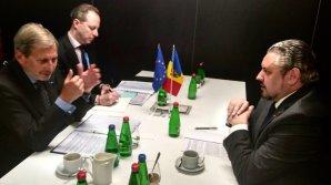 Ministrul Afacerilor Externe şi Integrării Europene, Andrei Galbur a avut o întrevedere cu Comisarul Johannes Hahn