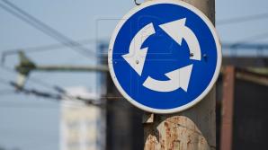 Atenţie, şoferi! Se închide circulaţia în sensul giratoriu de la intersecţia bulevardelor Negruzzi şi Gagarin
