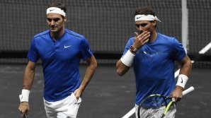 Moment istoric în tenis la Praga. Rafael Nadal şi Roger Federer au fost pentru prima dată coechipieri