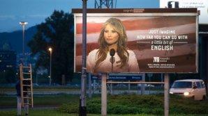 Melania Trump, revoltată din cauza panoului publicitar care îi utilizează imaginea pe străzile din Zagreb,Croația