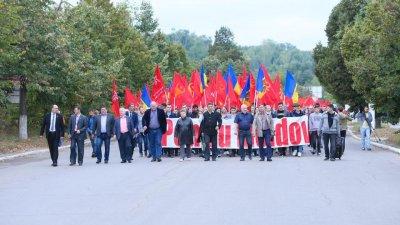 PSRM a scos oamenii în stradă să ceară republică prezidenţială şi alegeri anticipate