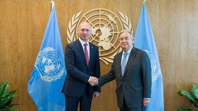 Premierul Pavel Filip a avut o întrevedere cu Secretarul General ONU, António Guterres