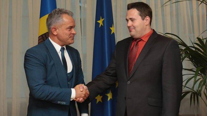 Vlad Plahotniuc s-a întâlnit astăzi cu Raul Toomas, Însărcinatul cu Afaceri al Estoniei la Chișinău