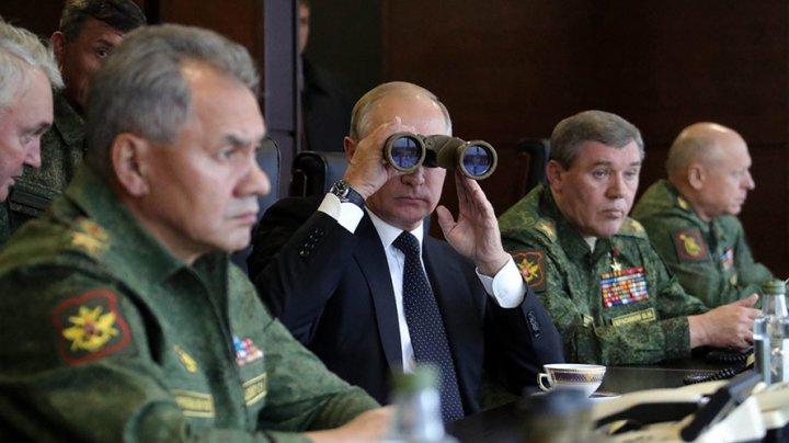 Președintele rus Vladimir Putin a asistat la exercițiile Zapad desfășurate în apropiere de Estonia