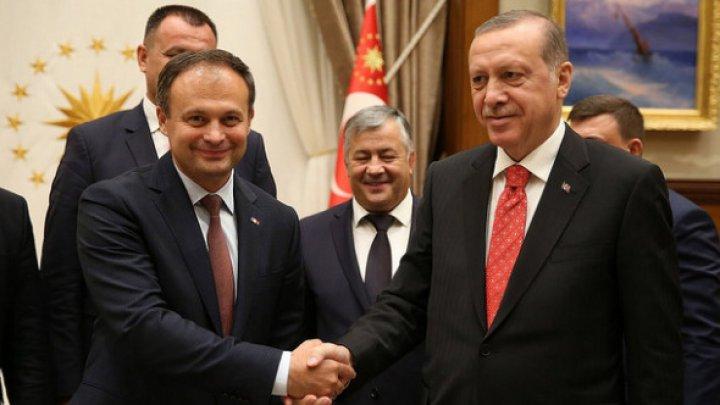 Andrian Candu s-a întâlnit cu Recep Erdoğan. Liderul de la Ankara a venit cu o solicitare către preşedintele Parlamentului