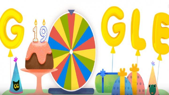 Surpriză pentru utilizatorii GOOGLE. Motorul de căutare sărbătoreşte cu ROATA ANIVERSARĂ 19 ani de existență