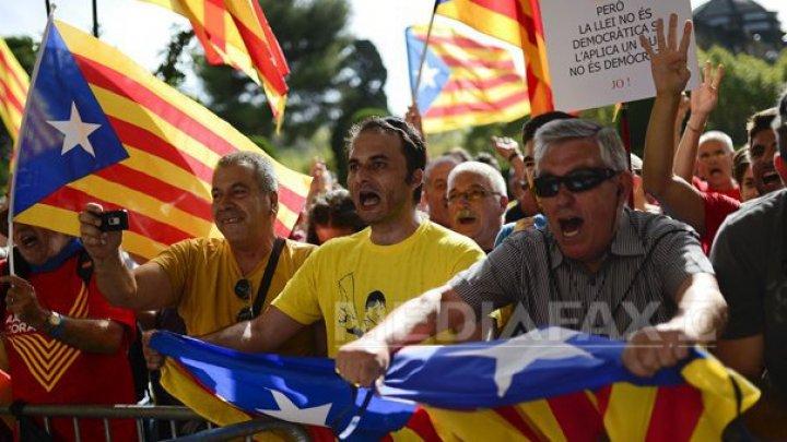 Miting de amploare în Barcelona, pentru independenţa Cataloniei (VIDEO)