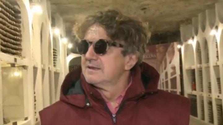 Goran Bregovici a vizitat pentru prima dată oraşul subteran de la Cricova (VIDEO)