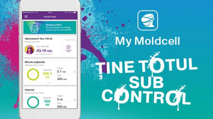 Aplicația My Moldcell – acces 24/24, GRATUIT, la contul tău mobil