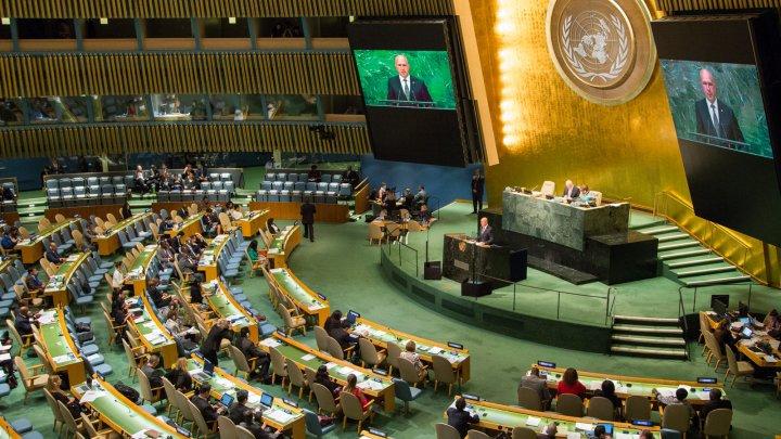 Discursul premierului Filip de la tribuna ONU: Moldova solicită înscrierea în agenda Adunării Generale a unui punct privind retragerea forțelor militare străine