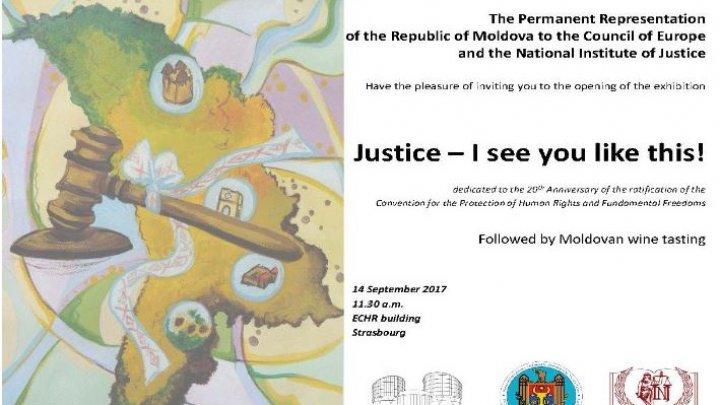 Picturile copiilor din Moldova au ajuns la o expoziţie la sediul Curții Europene a Drepturilor Omului