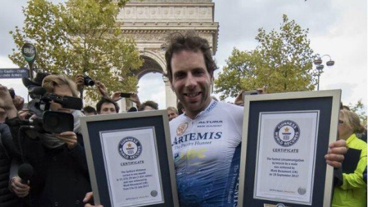 Un biciclist britanic a doborât recordul mondial pentru cea mai rapidă traversare a planetei pe bicicletă