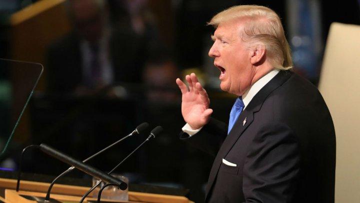 Trump a ameninţat la ONU că va ''distruge total'' Coreea de Nord