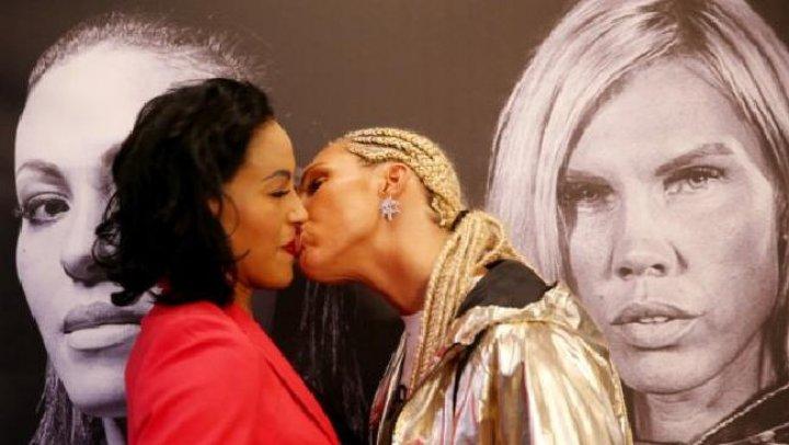 AMOR ÎNAINTEA LUPTEI: Lauren şi-a sărutat adversara la conferinţa de presă (VIDEO)