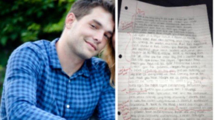 A primit o scrisoare de la fosta iubită. Ceea ce a făcut tânărul cu scrisoarea este IMPRESIONANT