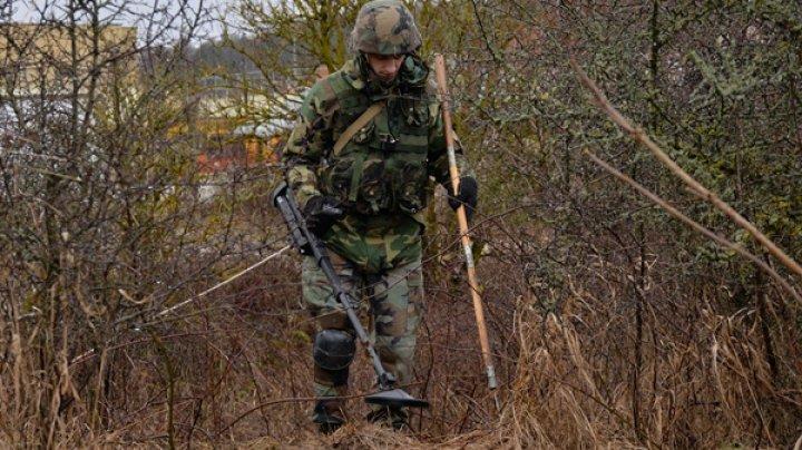 26 de obiective explozive din diferite localităţi au fost deminate de către geniştii Armatei Naţionale în luna septembrie