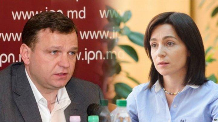 Maia Sandu critică implicarea lui Traian Băsescu în politica moldovenească