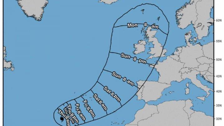 Uraganul care ameninţă Europa. Ophelia este în apropiere de Portugalia