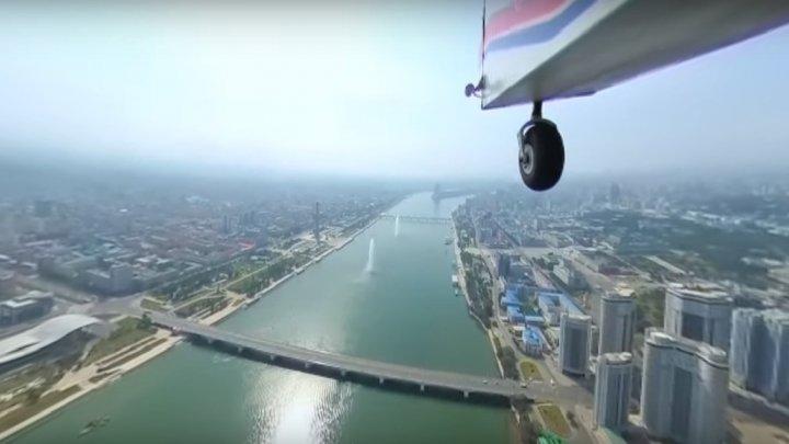 Panoramă spectaculoasă surprinsă de la înălţime. Cum arată Phenianul văzut din zbor (VIDEO)