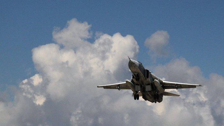 Un bombardier rusesc Su-24 s-a prăbuşit în Siria. Toţi cei aflaţi la bord au decedat