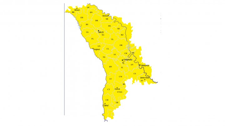 Avertizare meteorologică! COD GALBEN DE CEAŢĂ în toată ţara