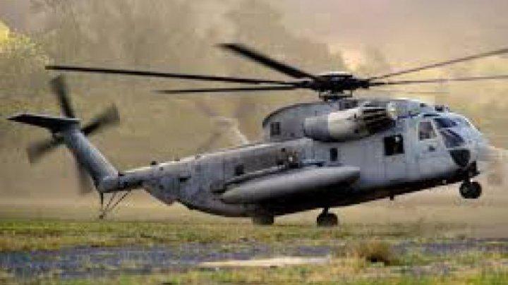 Un elicopter aparţinând armatei SUA s-a prăbuşit în Japonia. Totul s-a tranformat în scrum (Foto)