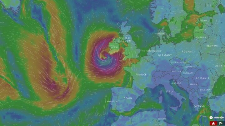 Măsuri fără precedent în Irlanda, înainte de sosirea uraganului Ofelia (LIVE RADAR METEO)
