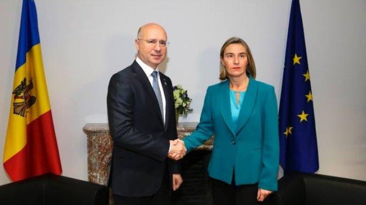 Federica Mogherini: Republica Moldova poate miza pe susținerea deplină a UE în modernizarea țării