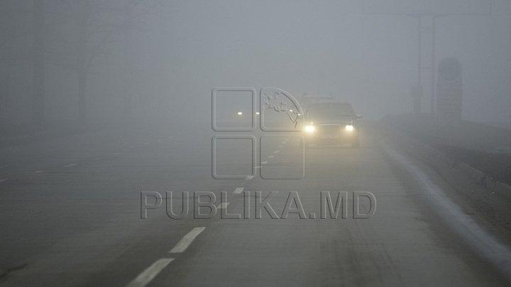INP atenționează șoferii și pietonii. În weekend pe trasee se va circula în condiţii de ceaţă