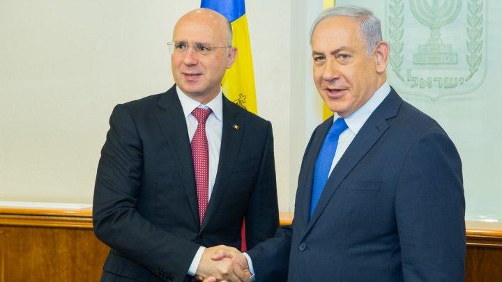 Relaţiile economice dintre Moldova și Israel, discutate de Pavel Filip și omologul său, Benjamin Netanyahu